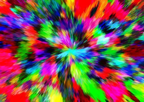 Abstract, Color, Burst, Break, Explode, Be Blown Up