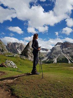 Mountains, Climbing, Climb, Hiking, Success, Adventure