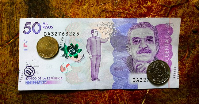 Money, Economy, Colombian Pesos, Ticket, Currency