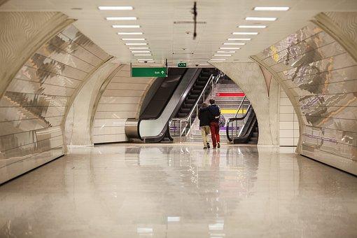 Subway, Double, Love, People, Friendship, City, Human