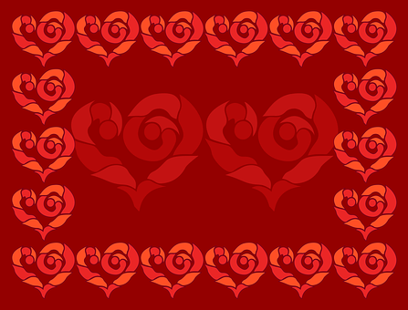 Valentine, Day, Heart, Hearts, Red, Crimson, Love