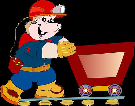Miner, Trolley, Worker, Mine, Lorry