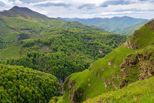 Mountain, Green, Landscape, France, Pyrenees, Nature