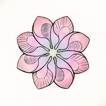 Flower, Figure, Pink, Symmetry