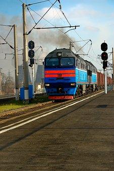 Track, Railroad, Train, Locomotive, Transportation