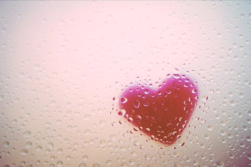 Heart, Window, Rain, Drip, Love, Romantic, Glass, Pink