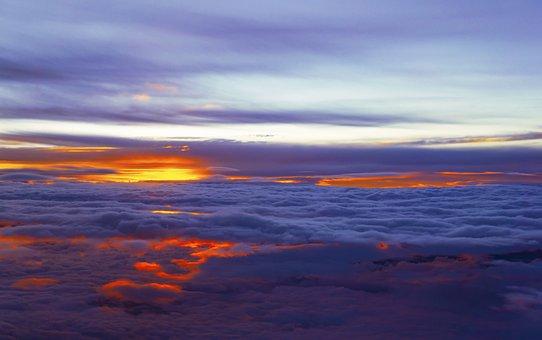 Heaven, Clouds, Sunset, Cloudscape, Atmosphere, Sunrise