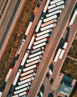 Truck, Parking, Resting Place, Highway, Traffic