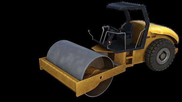 Roll, Road Construction, Machine, Site, Work Machine