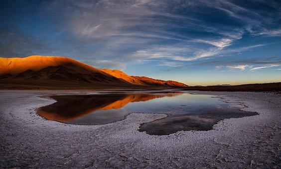 Lake, Salt Flat, Andes, Chile, Atacama, Salt, Argentina