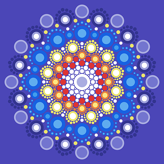 Art With Points, Abstract, Mandala, Ornament