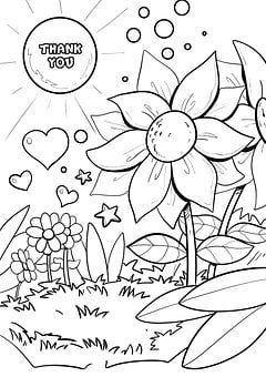 Drawing, Thank You, Imagine, Coloring Pages, Coupon
