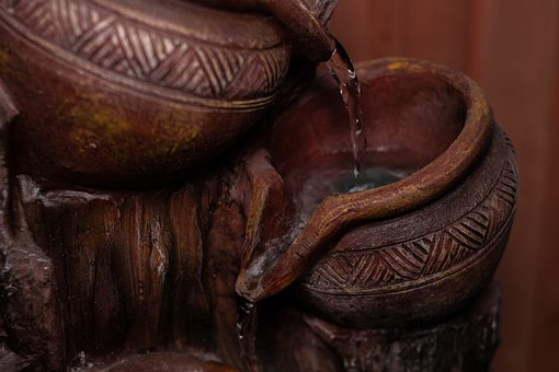 Source, Water, Crock, Wet, Drip, Decoration, Current