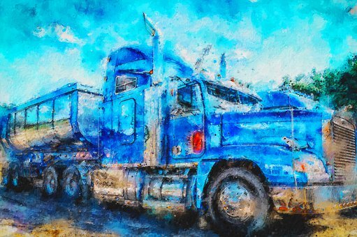 Digital Painting, Truck, Auto, Paintings, Drawing