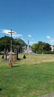 Lourdes, France, Church, Place, Catholic, Grotto