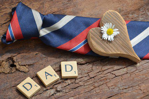 Father's Day, Love, Thank You, Heart, Tie, Harmony
