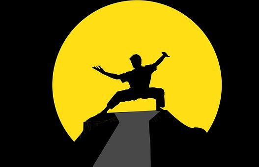 Fu, Kung, Kungfu, Master, Silhouette