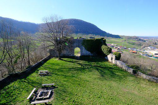 Sulzburg, Ruin, Castle, Late Medieval Spur Castle