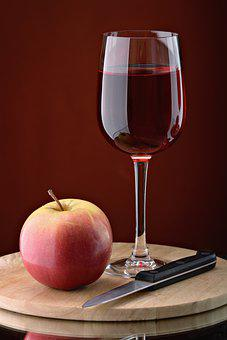 Glass, Knife, Wine, Red, Stopper