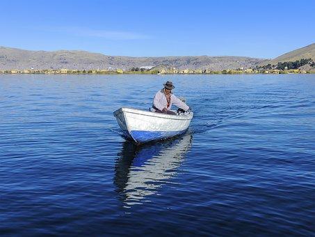 Titicaca, Lake, Peru, Bolivia, Candelaria, Island