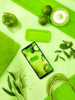 Green, Kitchen, Food, Wallpaper, Green Color