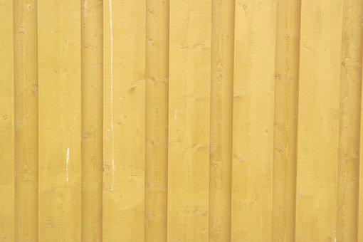 Wooden Wall, Yellow, Background