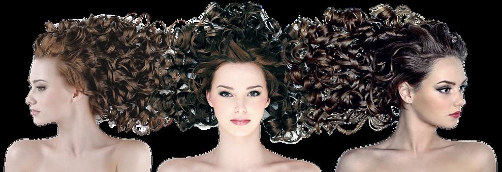Hairdress, Hair, Curls, Woman, Model