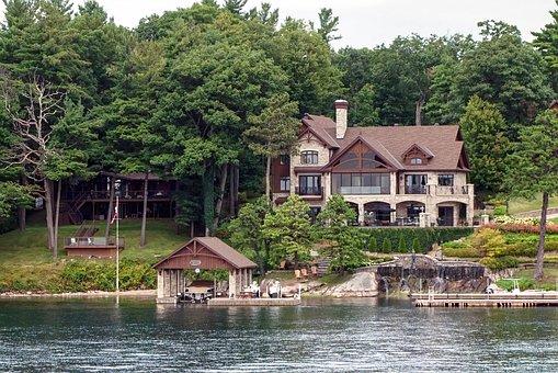 House, Home, River, Cottage, Summer, Summer Home