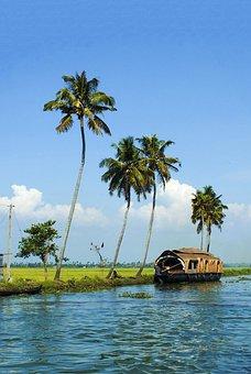 Lake, Alleppey, Kerala, House Boat, Kumarakom