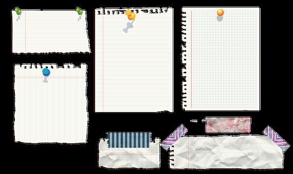 Message Papers, Post Its, Paper Clip Art, Memo, List