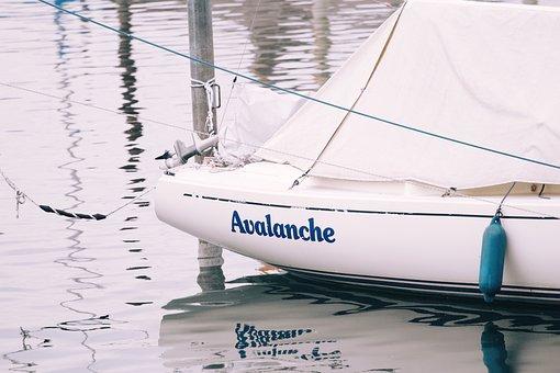 Ship, Water, Lake, Name, Lettering, Sea, Sail