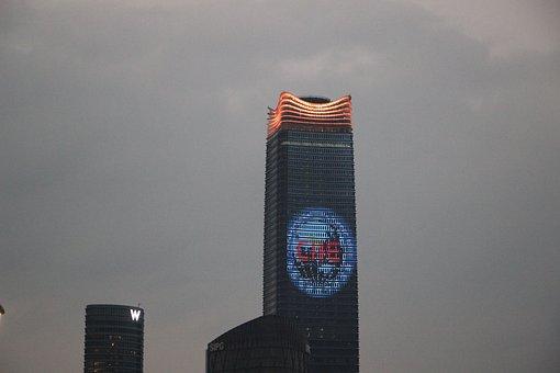 Building, Nightfall, Skyscraper, Tower, North Bund