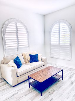 Arched Windows, Plantation Shutters