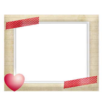 Frame, Scrapbooking, Hearts, Colorful, Photo Frame
