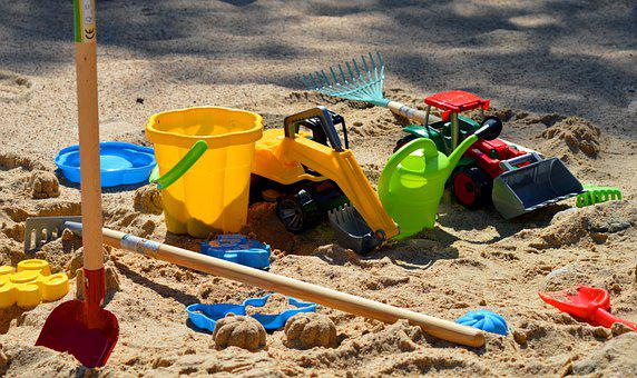 Sand Pit, Sand Box, Toys, Sand, Children Toys, Bucket