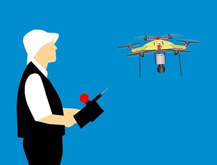 Drone, Man, Playing, Above, Adult, Aerial, Air