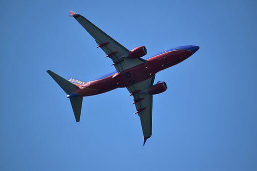 Airplane, Underbelly, Southwest, Airliner, 737 Boeing