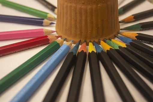 Artistic, Color, Colorful, Colored, Pencils, Rainbow