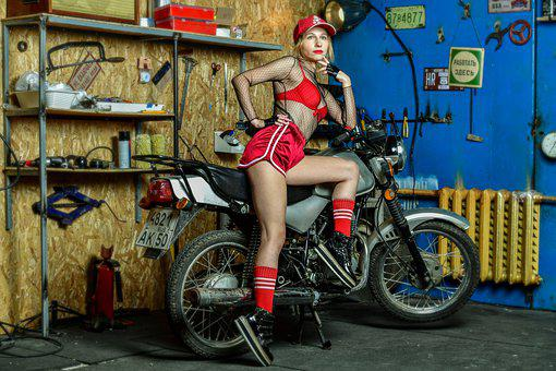 Motorcycle, Woman, Sexy, Nudity, Motor, Girl, Biker