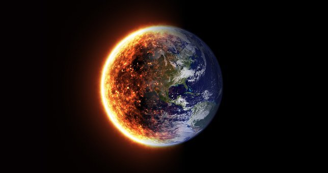Burning, Earth, Heat, Global, Warming, Climate, Change