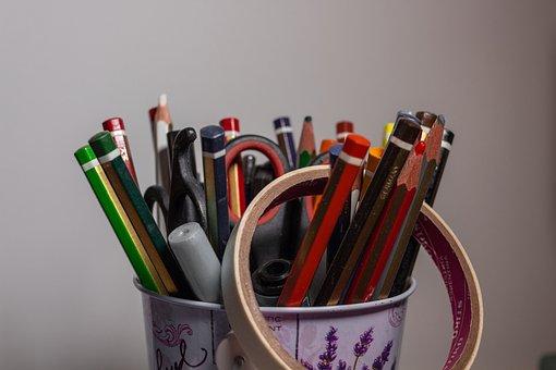 Pencil, Pencils, School, Color, Colors, Painting