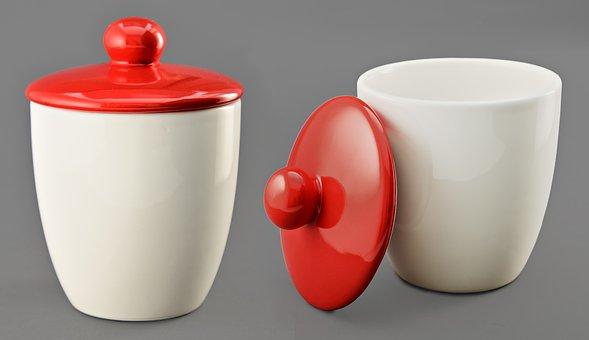 Jars, Storage, Container, Lid, Decoration, Ceramics