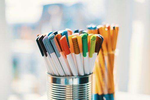 Pens, Colored Pencils, Felt-tip Pen, Paint, Creative
