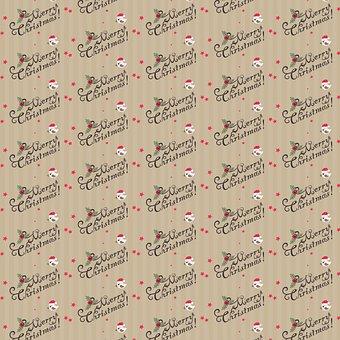 Kraft Paper, Christmas Pattern, Parchment, Paper, Brown