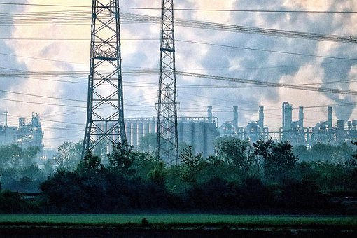 Industry, Nature, Factory, Air Pollution, Chimneys
