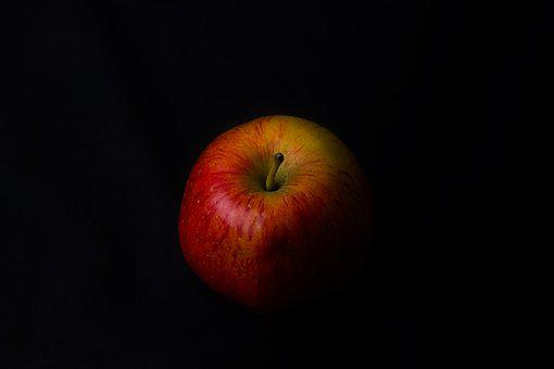 Red, Apple, Fine Art, Shadow, Orange, Stalk, Fruit
