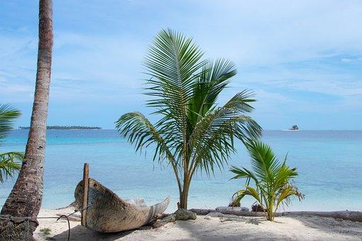 Panama, San Blas, Caribbean, Island, Beach, Sea