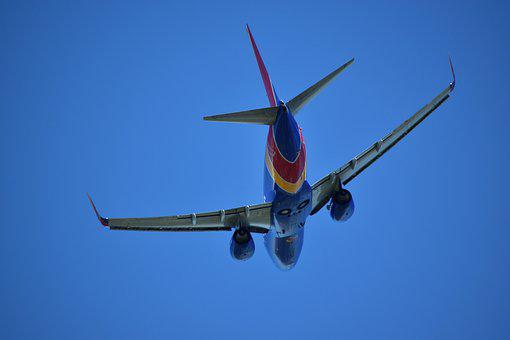 Boeing 737, Underbelly, Airplane, Southwest, Arrival