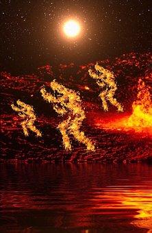 Burning Man, Fire, On Fire, Man, Flame, Burn