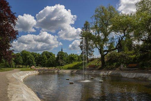 Citizen Garden, Fountain, Park, Templin, Uckermark